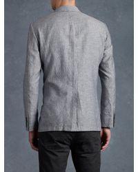 John Varvatos - Gray Peak Lapel Jacket for Men - Lyst