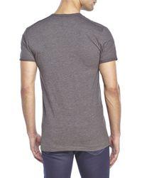 G-Star RAW - Gray Patch Pocket Slub Knit Tee for Men - Lyst