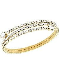 Swarovski | Metallic Twisty Drop Bangle | Lyst