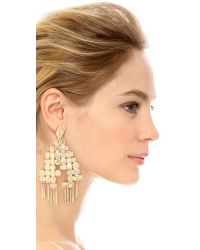 Aurelie Bidermann - Metallic Marella Earrings - Gold - Lyst