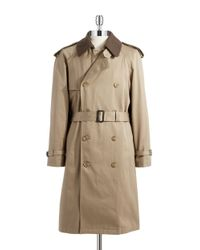 Hart Schaffner Marx | Brown Warmer Accented Trench Coat for Men | Lyst