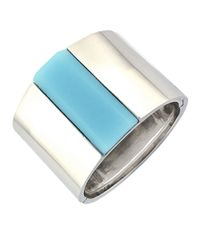 Vince Camuto   Silvertone Powder Blue Bangle Bracelet   Lyst