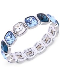 Anne Klein | Blue Cushion-Cut Stone Stretch Bracelet | Lyst