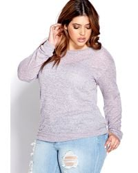 Forever 21 | Purple Plus Size Easy Marled Knit Top | Lyst