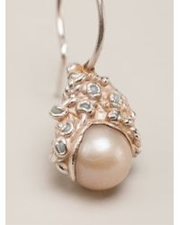 Ruth Tomlinson - Metallic Pearl Drop Earrings - Lyst