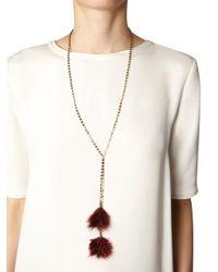 Isabel Marant - Red Dodge Feather Necklace - Lyst