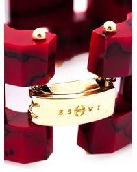 Eshvi | Red 'Braid 33' Bracelet | Lyst