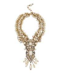 Erickson Beamon - Metallic Imitation Pearl Necklace - Pearl - Lyst
