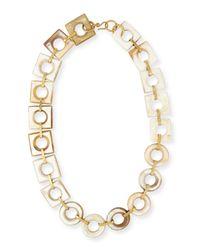 Ashley Pittman - Metallic Mbele Light Horn Geometric Necklace - Lyst