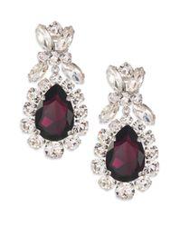 Miu Miu | Purple Swarovski Crystal Cluster Clip-on Earrings | Lyst