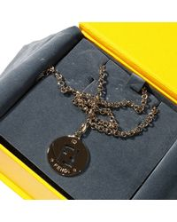 Fendi | Metallic Bijoux Necklace With Charming 48 Cm | Lyst