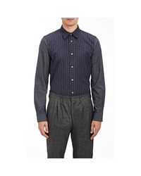 Paul Smith - Blue Pinstriped & Graph-checked Shirt for Men - Lyst