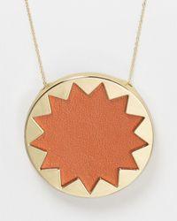 House of Harlow 1960 - Metallic Sunburst Pendant Necklace 36 - Lyst