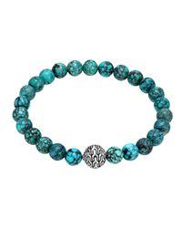 John Hardy | Blue Turquoise Large Beaded Bracelet | Lyst