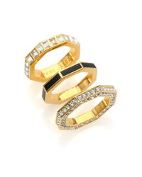 Marc By Marc Jacobs - Metallic Lost & Found Octagon Stacking Ring Set - Lyst
