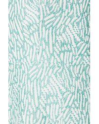 HUGO - Green Sleeveless Dress In Cotton Blend: 'keliko' - Lyst
