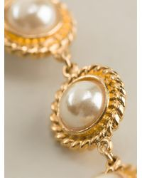 Moschino | Natural Faux Pearl Necklace | Lyst