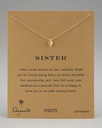 Dogeared - Metallic Sisters Heart Pendant Necklace - Lyst