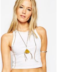 ASOS | Metallic Boho Tassel Long Pendant Necklace | Lyst