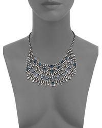 DANNIJO | Metallic Steinem Crystal Bib Necklace | Lyst