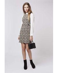 TOPSHOP - Multicolor '60s Button Shift Dress - Lyst