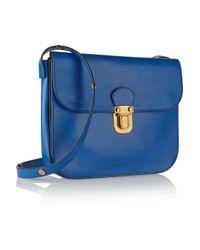 Marni - Blue Leather Shoulder Bag - Lyst