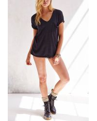 Truly Madly Deeply - Black V-neck Slouch Pocket Tee - Lyst