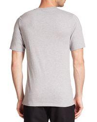 MSGM - Gray Logo-print Cotton Tee for Men - Lyst