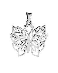 Aeravida - Metallic Pretty Wild Butterfly Detailed .925 Silver Pendants - Lyst