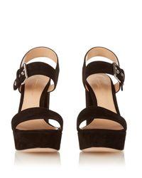 Gianvito Rossi | Black Gina Suede Platform Sandals | Lyst