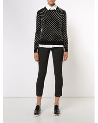 Michael Kors   Black Pearlescent Hand-embroidered Sweater   Lyst