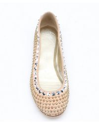 Giuseppe Zanotti - Natural Dolly Suede Studded Ballet Flats - Lyst