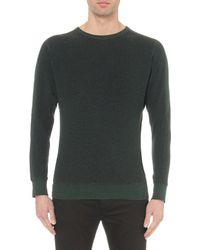 DIESEL - Green S-erastos Crewneck Knitted Sweatshirt for Men - Lyst