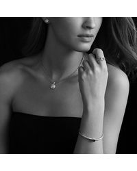 David Yurman | Noblesse Bracelet With Blue Topaz And Diamonds | Lyst