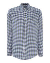 GANT | Green Gingham Twill Classic Shirt for Men | Lyst