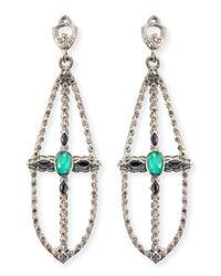 Armenta | Metallic New World Elongated Pear Chandelier Earrings | Lyst