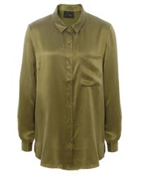 Gestuz | Green Latifa Silk Shirt | Lyst