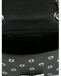 RED Valentino - Black Eyelet Embellished Shoulder Bag - Lyst