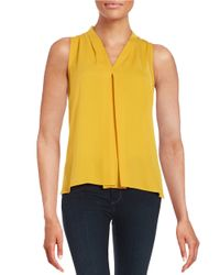 Vince Camuto - Yellow Hi-lo Sleeveless Top - Lyst