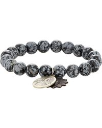 Miracle Icons - Black Double-charm Bracelet for Men - Lyst