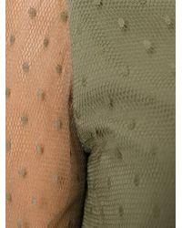RED Valentino - Green Polka Dot Flared Dress - Lyst