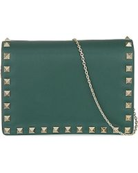 Valentino | Rockstud Leather Cross-body Bag, Women's, Green | Lyst
