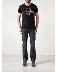 Lucien Pellat Finet - Black Rainbow Skull T-Shirt for Men - Lyst