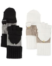 Calvin Klein | Black Colorblock Flip-top Gloves | Lyst