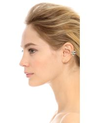 Adia Kibur - Metallic Eileen Left Earring - Clear/Gold - Lyst