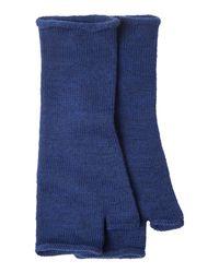Toast | Blue Merino Long Fingerless Mittens | Lyst