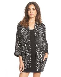 RVCA - Black 'right At Reign' Top - Lyst