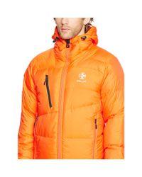 Ralph Lauren - Orange Water-resistant Down Jacket for Men - Lyst