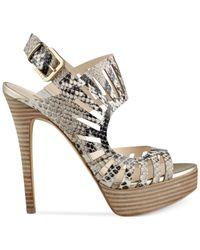 Guess - Gray Kabirra Platform Sandals - Lyst