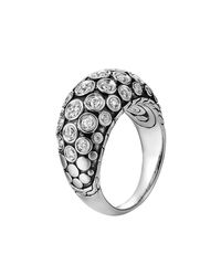 John Hardy | Metallic Dot Pave Diamond Dome Ring | Lyst